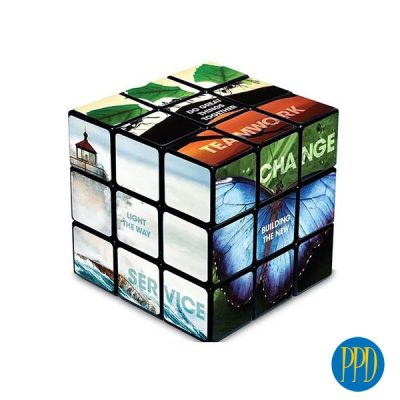 Boston business marketers get your logo on a Rubik's Cube